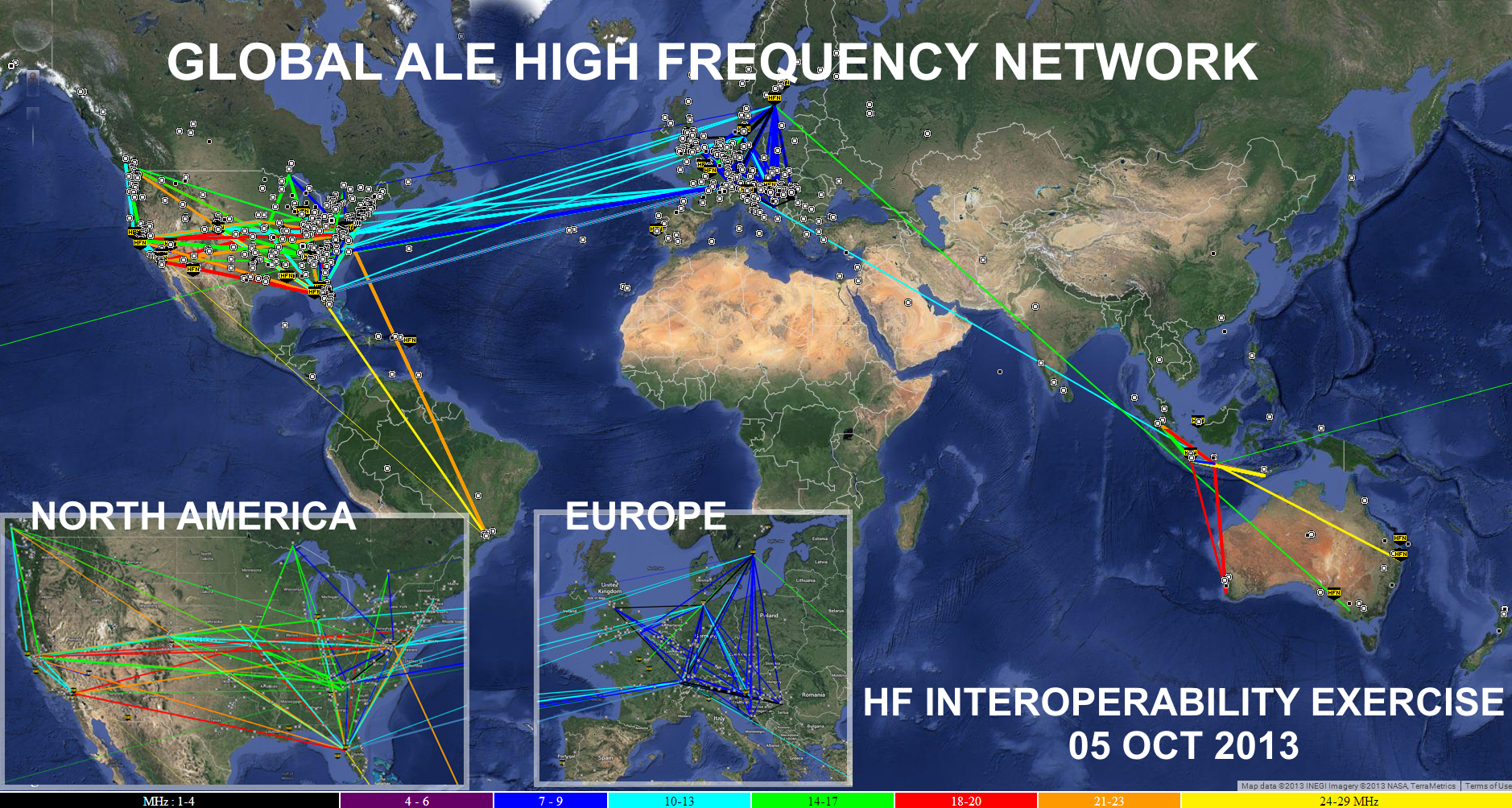 ZOOM: Map Snapshot of HFN Network during HFIE2013 October