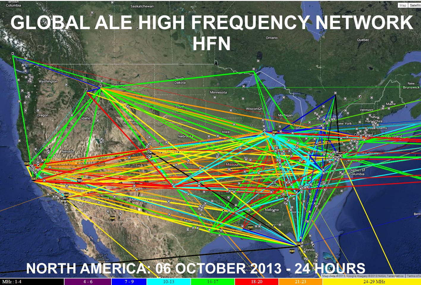 ZOOM: Map Snapshot of HFN Network (North America) during HFIE2013 October